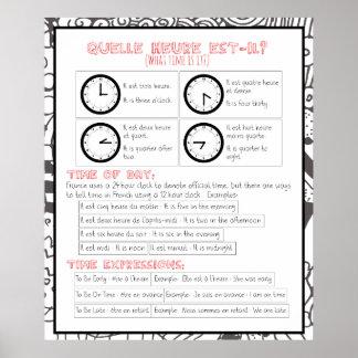 Quelle heure est-il? What Time is It? Poster