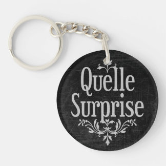 Quelle Surprise Double-Sided Round Acrylic Keychain