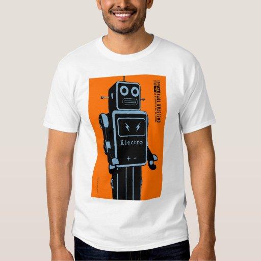 Quelstar juega el robot del juguete de la lata de playera