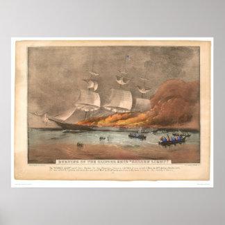 """Quema de la nave de podadoras """"luz de oro"""" (0143A) Posters"""