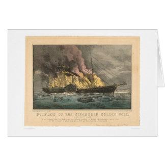 Quema del Golden Gate del buque de vapor (0144A) Tarjeta De Felicitación