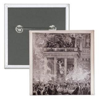 Quema del teatro del anillo, Viena Pin Cuadrada 5 Cm