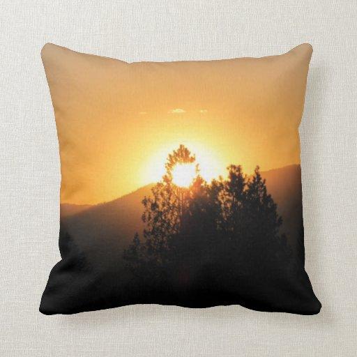 Quemado por un sunray almohada