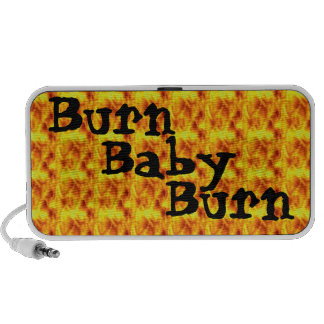 Quemadura, bebé, los años 70 de la quemadura retro altavoces