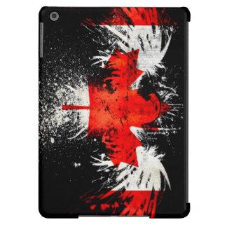 Quemadura canadiense de la bandera funda para iPad air