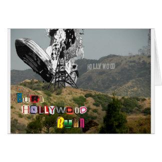 Quemadura de Hollywood de la quemadura Tarjeta De Felicitación