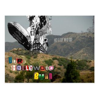 Quemadura de Hollywood de la quemadura Postales
