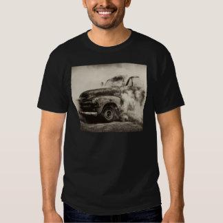 Quemadura del camión del vintage polera