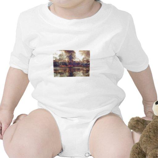 Quemadura del pantano en la reserva nacional 2 del trajes de bebé