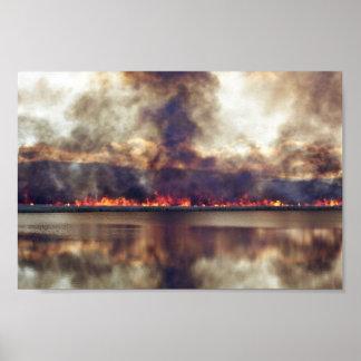 Quemadura del pantano en la reserva nacional 2 del póster