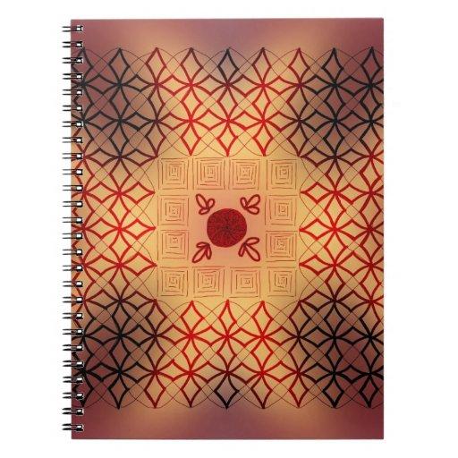 Quemadura del rojo y del negro spiral notebooks