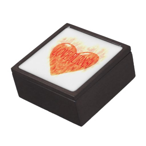 Quemaduras del amor cajas de recuerdo de calidad