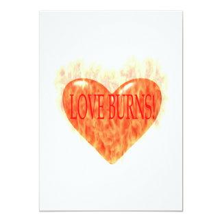 Quemaduras del amor invitación 12,7 x 17,8 cm