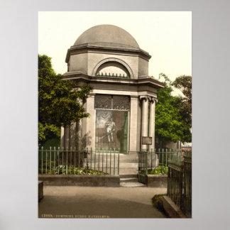 Quemaduras mausoleo Dumfries Escocia Impresiones