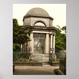 Quemaduras mausoleo impresión del archivo de Dumf Posters