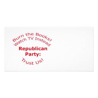 Queme los libros plantilla para tarjeta de foto
