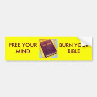 Queme su biblia pegatina de parachoque