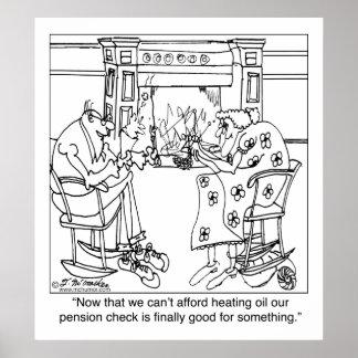 Queme su control de la pensión para mantener calie póster