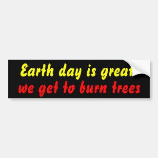 queme un árbol pegatina de parachoque