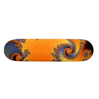 Quenched Double Spiral Skateboard