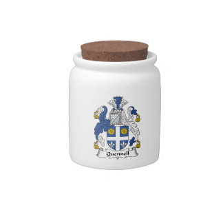 Quennell Family Crest Candy Jar
