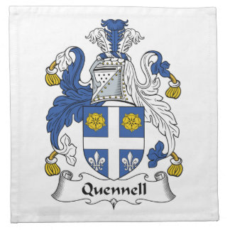Quennell Family Crest Napkin