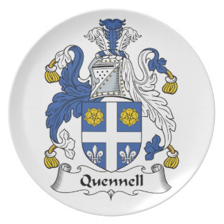 Quennell Family Crest Party Plate