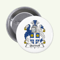 Quennell Family Crest Button