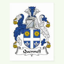 Quennell Family Crest Postcard