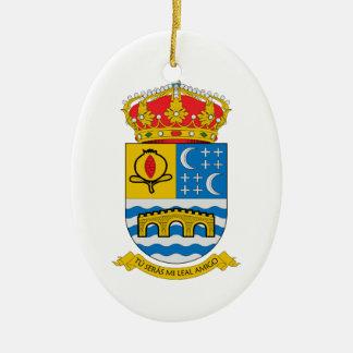 Quentar (Spain) Coat of Arms Ceramic Ornament