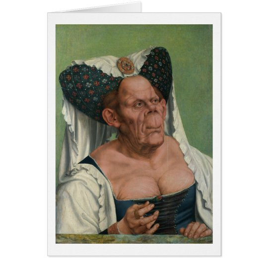 Quentin Massys - A Grotesque Old Woman, 1515 Card