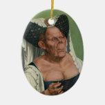 Quentin Massys - mujer mayor grotesca, 1515 Ornamento Para Reyes Magos