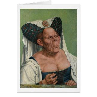 Quentin Massys - mujer mayor grotesca, 1515 Tarjeta Pequeña
