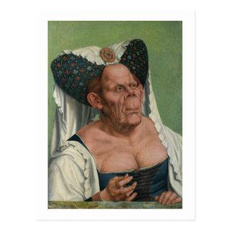 Quentin Massys - mujer mayor grotesca, 1515 Tarjeta Postal