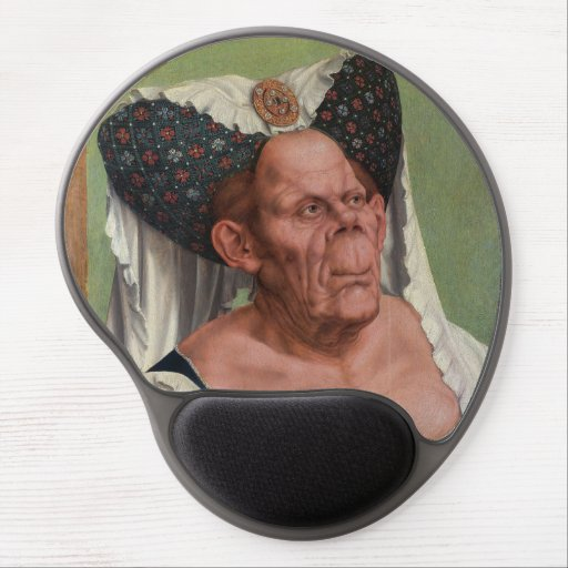Quentin Matsys - A Grotesque Old Woman Gel Mouse Pad