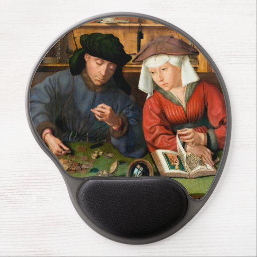 Quentin Matsys - The Moneylender and His Wife Gel Mouse Pad