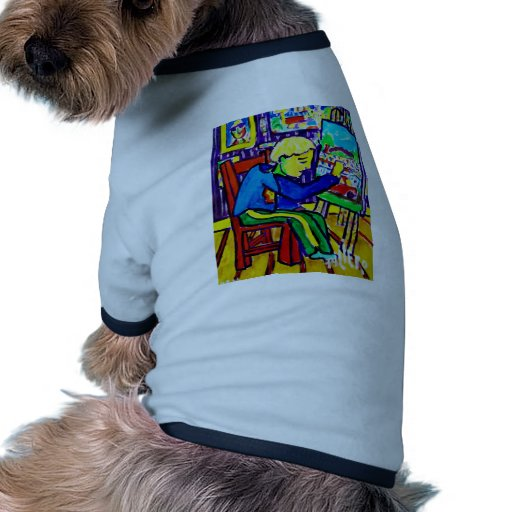 Quentin Painting by Piliero Pet Tee Shirt