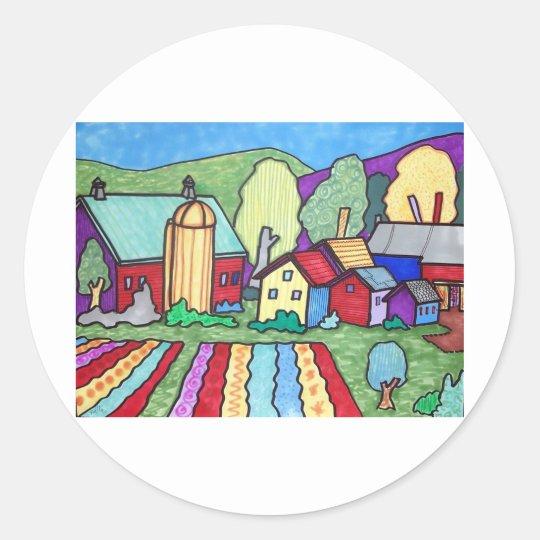 Quentin's Farm Classic Round Sticker