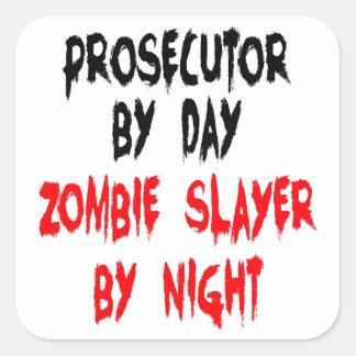 Querellante del asesino del zombi colcomanias cuadradas