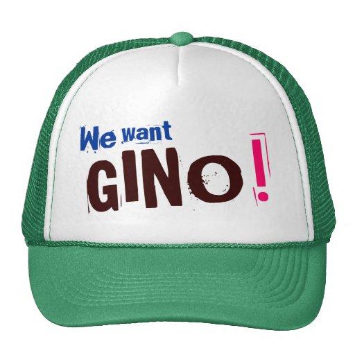 ¡Queremos a GINO! - Gorra de los Celtics de Boston