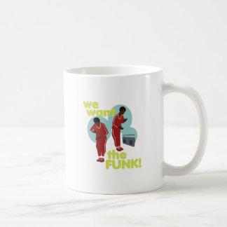 Queremos el miedo taza de café