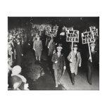 ¡Queremos la cerveza! Prohibición Protest, 1931. Impresiones En Lona Estiradas