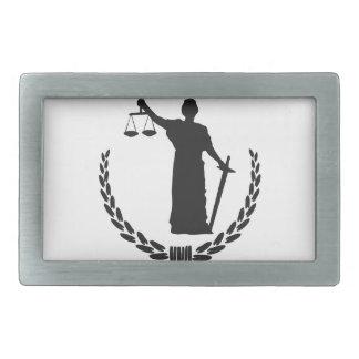 Queremos la justicia hebillas cinturón rectangulares