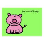 querer decir… (el cerdo rosado) tarjeta de visita