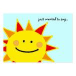 querer decir… (el sol sonriente) plantillas de tarjetas personales