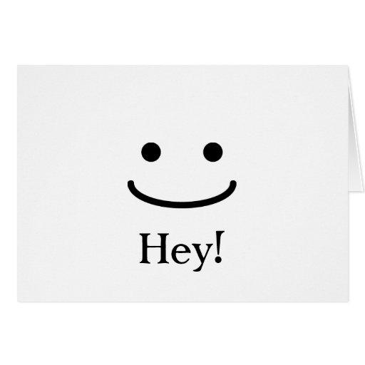 ¡Querer decir hola! Tarjeton