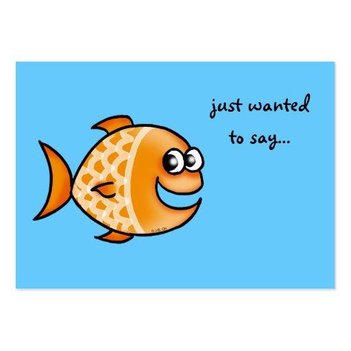 querer decir… (pescados anaranjados) plantilla de tarjeta de visita