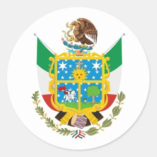 Queretaro, México Etiquetas Redondas