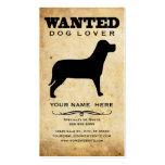 querido: amante del perro tarjetas de visita