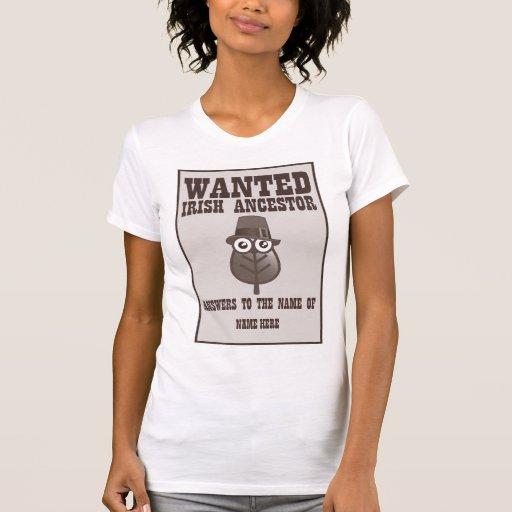 Querido - antepasado irlandés camiseta